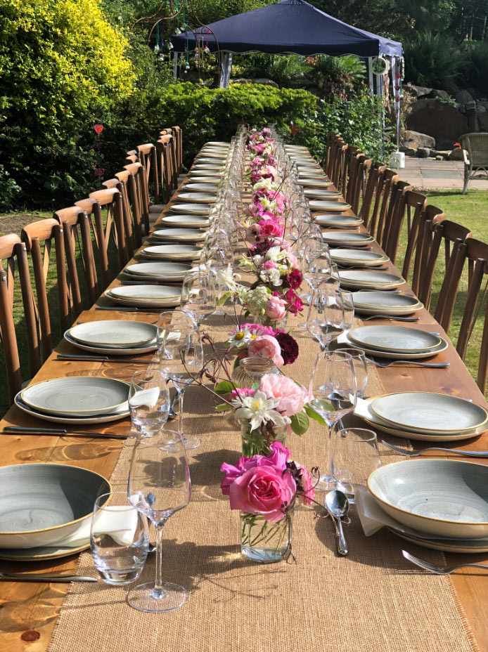 garden table hire